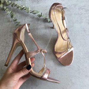 IVANKA TRUMP Adara Pink Metallic Strappy Heels 9.5